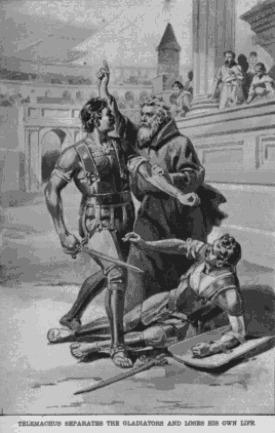 The Martyrdom of Saint Telemachus - foto preluat de pe en.wikipedia.org