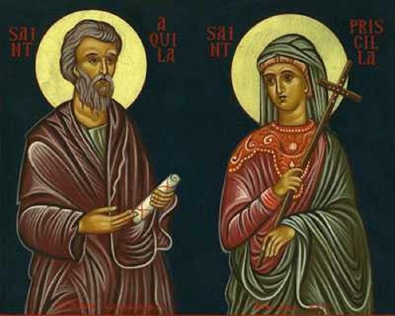 Sf. Ap. Acvila şi soţia sa, Priscila - foto preluat de pe doxologia.ro
