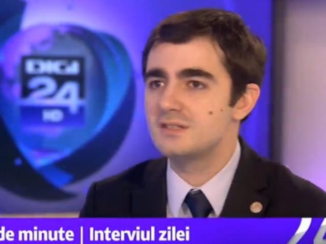 Claudiu Nasui, deputat USR, membru în comisia de buget-finanțe din Parlamentul României - foto: digi24.ro
