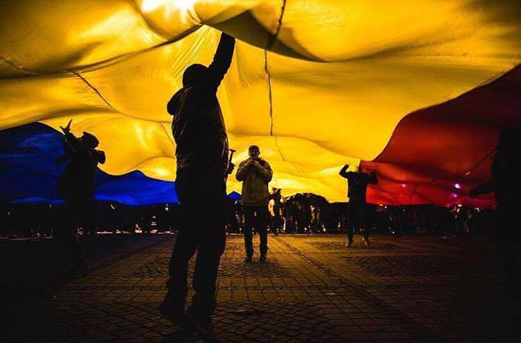 Operatiunea Tricolorul + Revolutia Luminii (Protest București, Piața Victoriei - 12 februarie 2017) - foto: Cristian Bisca