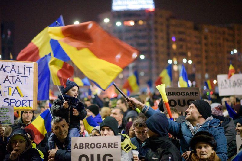 Protest 4 februarie 2017 - foto: Mihuţ Savu / Epoch Times România
