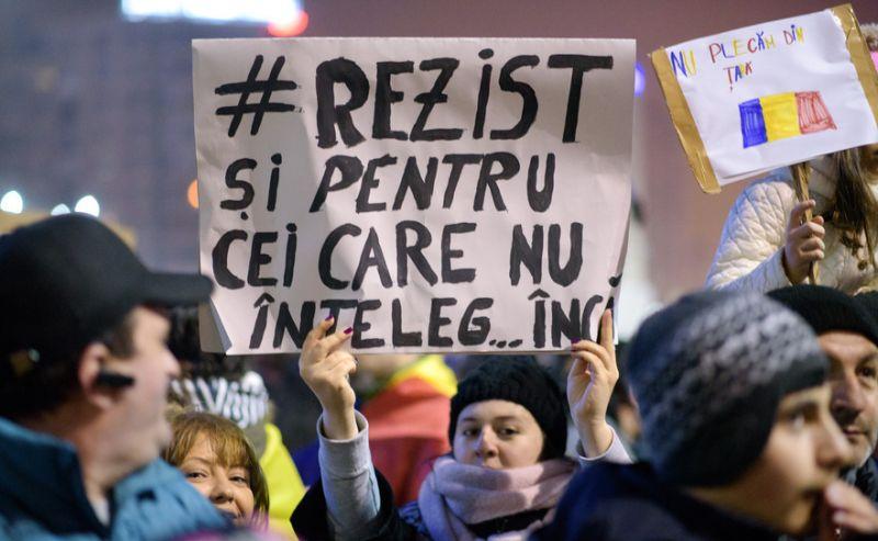 Protest la Guvern [ziua a 6-a - 5 februarie 2017] - foto: Mihuţ Savu / Epoch Times România