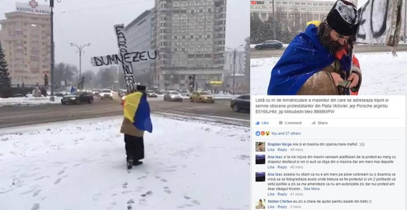 #altaintrebare devine #altamasina - Bucuresti Piata Victoriei, 8 Februarie 2017 - foto: facebook.com