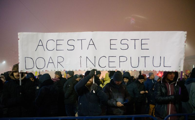 Protest la Guvern - foto: Mihuţ Savu / Epoch Times România