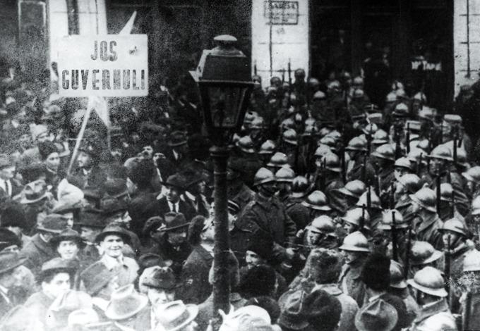 Protest interbelic la sala Dacia - foto: art-historia.blogspot.ro