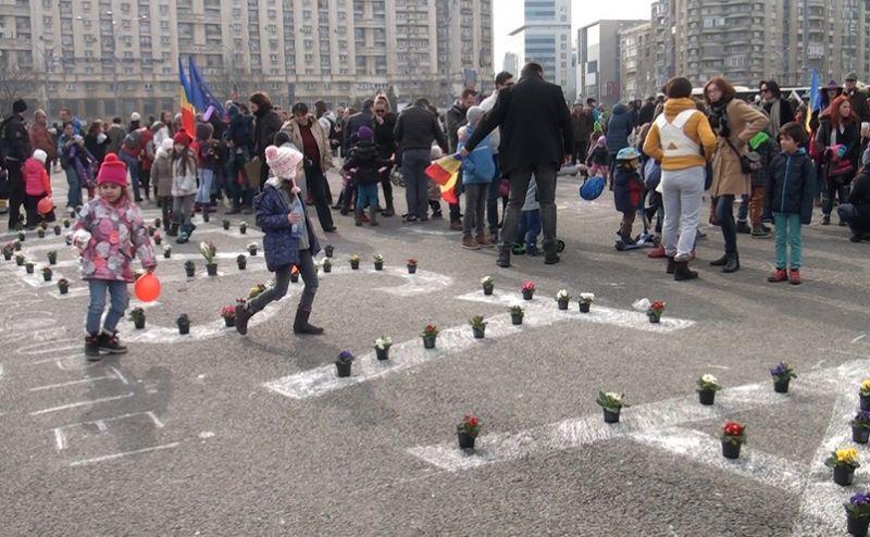 Protestul copiilor, 18 februarie 2017 - foto: Epoch Times