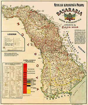 Harta teritoriului Republicii Democratice Moldovenești - foto: ro.wikipedia.org