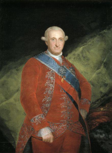 Carol al IV-lea (11 noiembrie 1748 – 20 ianuarie 1819) a fost rege al Spaniei din 14 decembrie 1788 până la abdicarea sa din 19 martie 1808 - in imagine, Portret al lui Carol al IV-lea de Goya - foto: ro.wikipedia.org