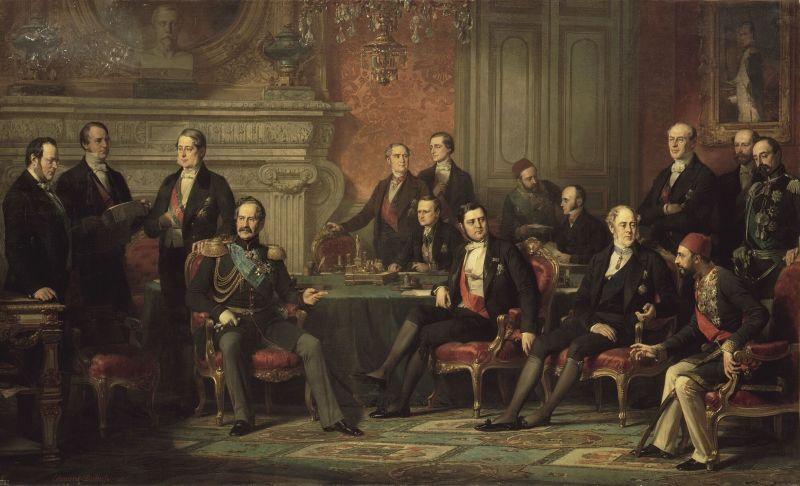 Edouard Louis Dubufe, Congrès de Paris, 1856, Palace of Versailles -  foto preluat de pe en.wikipedia.org