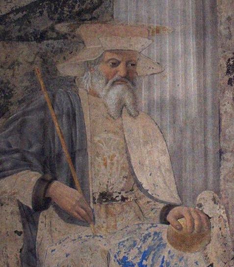 Saint Sigismund of Burgundy -Fresco by Piero della Francesca - foto preluat de pe en.wikipedia.org