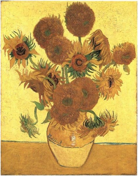 Still Life: Vase with Fifteen Sunflowers - foto: vangoghgallery.com