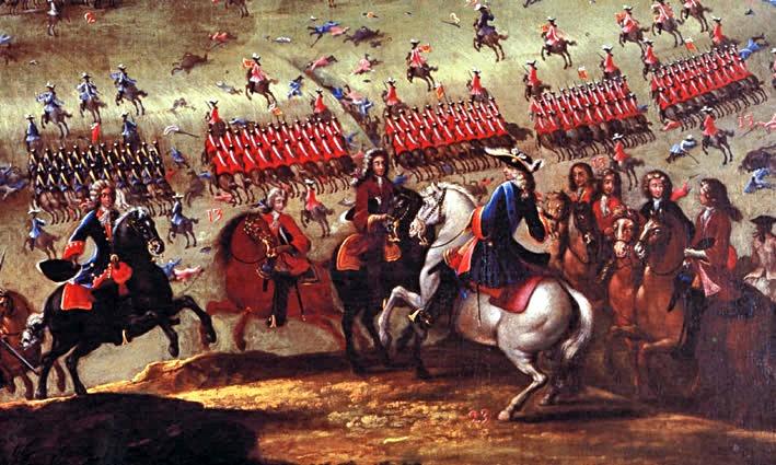 Armata franco-spaniolă condusă de ducele de Berwick a învins decisiv forțele aliate ale Portugaliei, Marii Britanii și ale Republicii Țărilor de Jos în bătălia de la Almansa - foto: ro.wikipedia.org