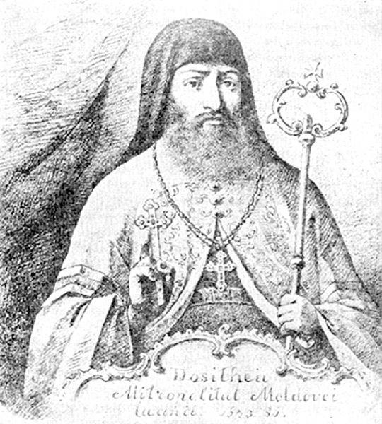 Dimitrie Barilă, cunoscut mai ales pe numele monahal Dosoftei, (n. 26 octombrie 1624, Suceava - d. 13 decembrie 1693, la Żółkiew, în Polonia, azi Jovkva, Ucraina) a fost un cărturar român, mitropolit al Moldovei, poet și traducător. În 2005 Biserica Ortodoxă Română l-a proclamat sfânt - foto preluat de pe ro.wikipedia.org