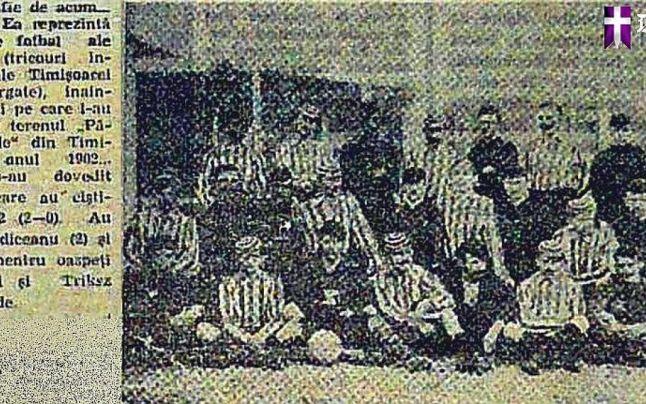Doar o imagine de slabă calitate a rămas de la primul meci, în 1902 - foto: druckeria.ro (preluat de pe: adevarul.ro)