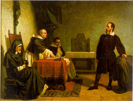 Cristiano Banti's 1857 painting Galileo facing the Roman Inquisition - foto: en.wikipedia.org