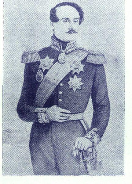 Grigore Alexandru Ghica (n. 1804 sau 1807 - d. 24 august 1857) a fost domn al Moldovei sub numele Grigore al V-lea Ghica din mai 1849 - octombrie 1853 și din octombrie 1854 - 3 iunie 1856. A fost fiul lui Alexandru G. Ghica - foto preluat de pe ro.wikipedia.org