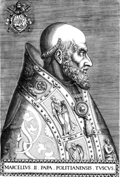 Pope Marcellus II (6 May 1501 – 1 May 1555) - foto: en.wikipedia.org