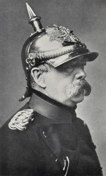 Otto Eduard Leopold von Bismarck - Graf von Bismarck (conte), apoi Fürst von Bismarck-Schönhausen (principe) - (n. 1 aprilie 1815, d. 30 iulie 1898) a fost un om de stat al Prusiei/Germaniei de la sfârşitul secolului al XIX-lea, precum şi o figură dominantă în afacerile mondiale - foto preluat de pe ro.wikipedia.org-