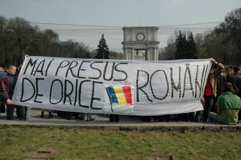 Protestele de la Chişinău din 2009 - foto preluat de pe ro.wikipedia.org