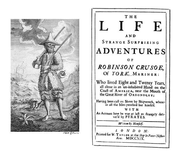 Robinson Crusoe 1719 1st edition - foto: ro.wikipedia.org