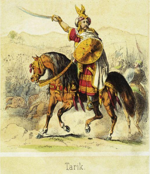 Ṭāriq ibn Ziyād a murit în anul 720. A fost un general musulman care a condus invazia musulmană în peninsula Iberică în sec. VIII, cucerind Hispania vizigotă - foto preluat de pe ro.wikipedia.org