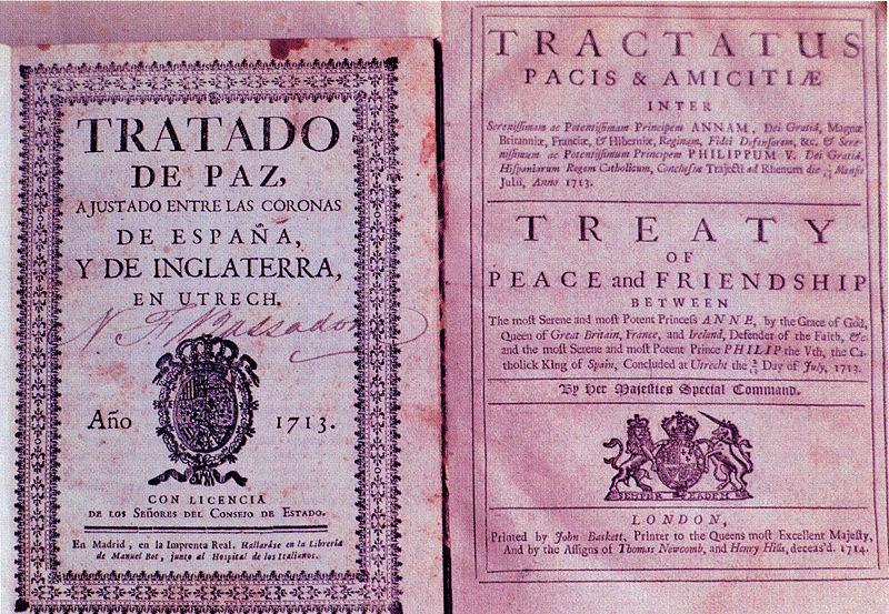 Unele dintre primele ediţii tipărite ale tratatului de la Utrecht (martie și aprilie 1713) - foto: ro.wikipedia.org