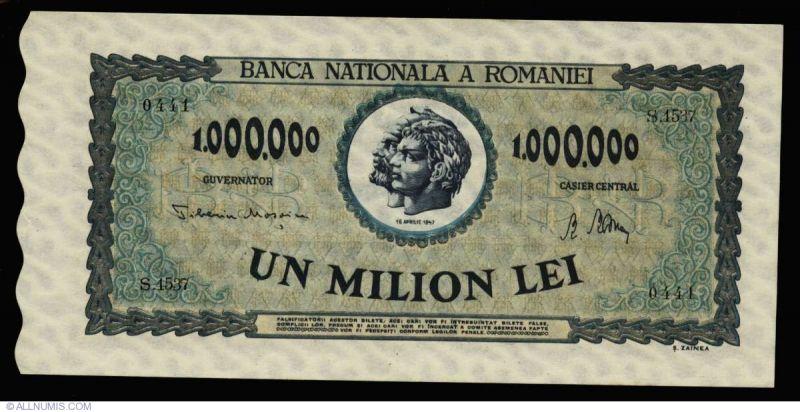 1 milion de lei (1947) - foto: allnumis.ro