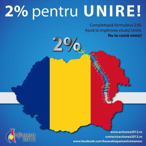 2% PENTRU UNIRE - foto: facebook.com/basarabiapamantromanesc