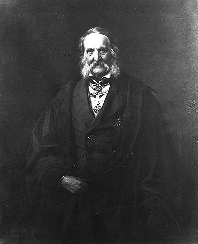 Franz Ernst Neumann (11 septembrie 1798 - 23 mai 1895) a fost un mineralog, fizician şi matematician german - Franz Ernst Neumann by Carl Steffeck 1886 - foto preluat de pe ro.wikipedia.org