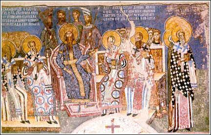 Sinodul ecumenic al V-lea de la Constantinopol sau Al doilea conciliu de la Constantinopol (553) - foto preluat de pe www.cuvantul-ortodox.ro