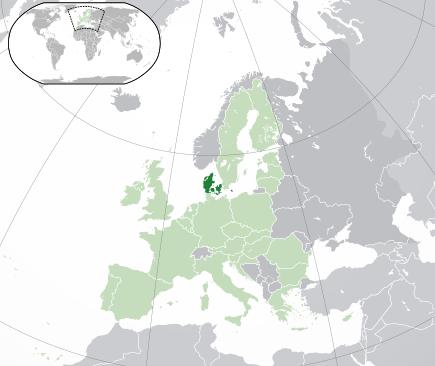 Poziția Danemarcei propriu-zise în cadrul Europei și Uniunii Europene - foto: ro.wikipedia.org