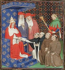 Pope Innocent IV sends Dominicans and Franciscans out to the Tartars (Mongols) - foto preluat de pe en.wikipedia.org