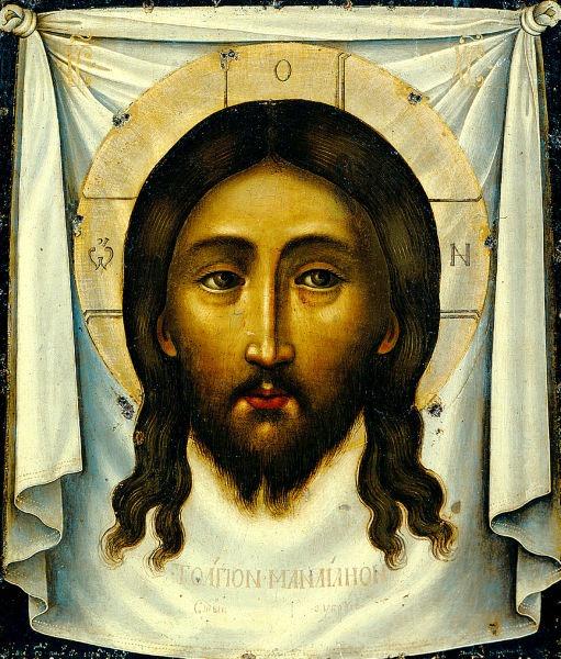 Sfânta Faţă (1658) - pictura de Simon Uşakov - foto preluat de pe ro.wikipedia.org