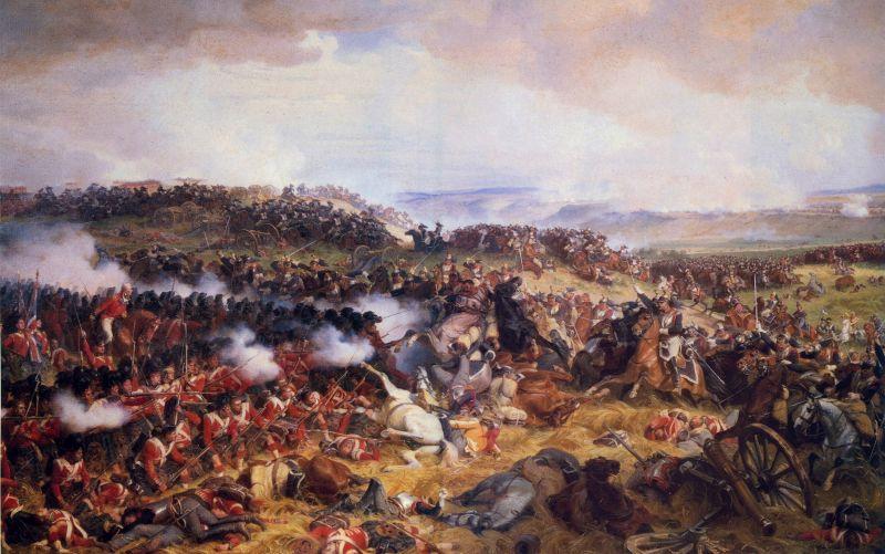 Şarja cuirasierilor francezi la Waterloo (18 iunie 1815) - foto: ro.wikipedia.org