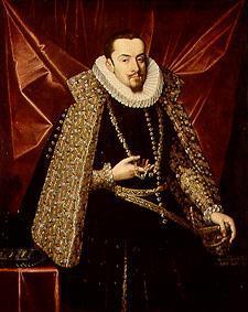 Arhiducele Albert de Juan Pantoja de la Cruz. Arhiducele Albert de Austria (13 noiembrie 1559 – 13 iulie 1621) a fost, împreună cu soţia sa Infanta Isabela a Spaniei (fiica regelui Filip al II-lea al Spaniei), co-suveran al Ţărilor de Jos Spaniole între 1598 şi 1621. Înainte a fost guvernator al acestor teritorii din 1596 - foto preluat de pe ro.wikipedia.org