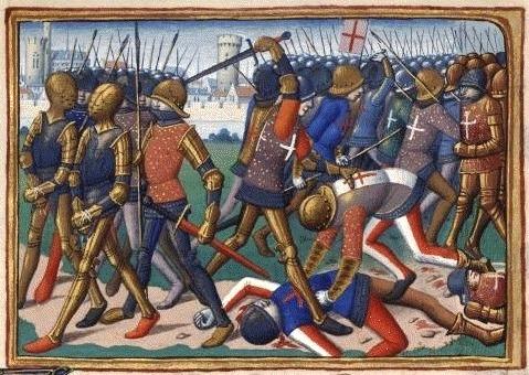 Bătălia de la Cravant (31 iulie 1423) - Parte din Războiului de 100 de Ani - Ilustraţie medievală a bătăliei de la Cravant din secolul al XV-lea - foto preluat de pe ro.wikipedia.org