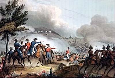 Bătălia de la Salamanca (22 iulie 1812) - gravat de J. Clarke, colorat de M. Dubourg - foto preluat de pe ro.wikipedia.org