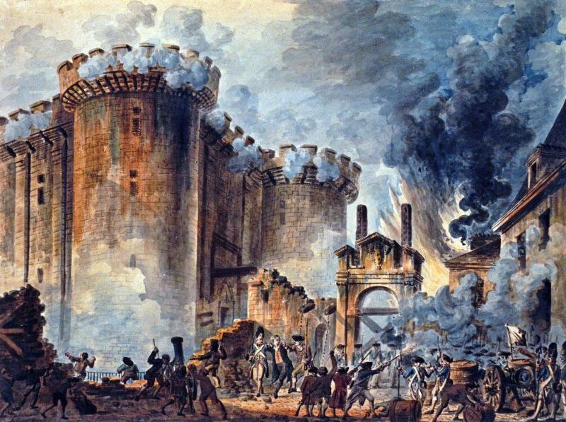 Storming of The Bastile by Jean-Pierre Houël - foto preluat de pe en.wikipedia.org