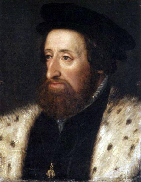 """Ferdinand I (n. 10 martie 1503, Alcalá de Henares, Spania – d. 25 iulie 1564, Viena, Imperiul Habsburgic) a fost un monarh din Casa de Habsburg. La moartea regelui Ludovic al II-lea, în 1526, a devenit rege al Boemiei şi Ungariei, iar în 1556, la abdicarea fratelui său, împăratul Carol Quintul, a devenit împărat al Sfântului Imperiu Roman. A fost şi principe al Transilvaniei între anii 1551-1556. Deviza sa a fost Fiat justitia et pereat mundus: """"Să se facă dreptate de-ar fi să piară pământul"""" - foto preluat de pe ro.wikipedia.org"""