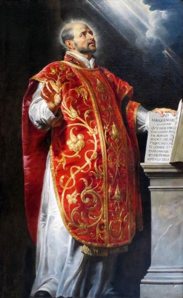 Ignaţiu de Loyola, născut Ignacio (Íñigo) López de Loyola, (n. 23 octombrie 1491, Azpeitia, Ţara Bascilor, Spania - d. 31 iulie 1556, Roma) a fost principalul fondator şi primul superior general al Societăţii lui Isus (Ordinul Iezuit) - Portrait by Peter Paul Rubens - foto preluat de pe en.wikipedia.org