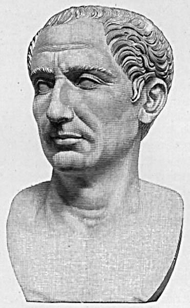 Gaius Iulius Caesar (n. 13 iulie, ca. 100 î.Hr. – d. 15 martie, 44 î.Hr., în română cunoscut şi ca Iulius Cezar) a fost un lider politic şi militar roman şi una dintre cele mai influente şi mai controversate personalităţi din istorie - foto preluat de pe ro.wikipedia.org