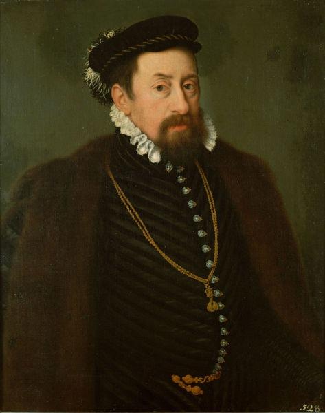 Maximilian al II-lea (n. 31 iulie 1527, Viena — d. 12 octombrie 1576, Regensburg) a fost un împărat al Sfântului Imperiu Roman între anii 1564–1576 - Maximilian al II-lea, Rege al Bohemiei, Rege al Ungariei, Împărat al Sfântului Imperiu Roman - Portrait by Nicolas Neufchâtel, c. 1566 - foto preluat de pe en.wikipedia.org