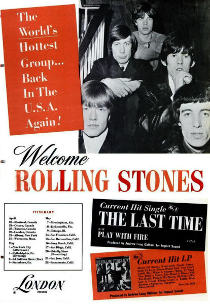 A trade ad for the 1965 Rolling Stones' North American tour - foto preluat de pe en.wikipedia.org