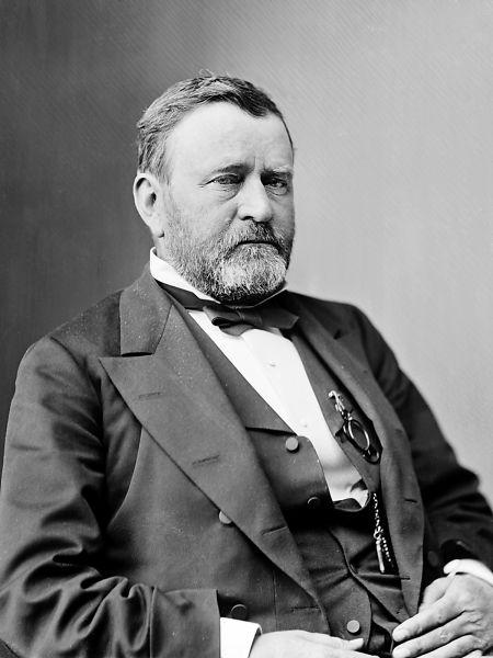 Ulysses S. Grant (născut Hiram Ulysses Grant în 27 aprilie 1822 - d. 23 iulie 1885) a fost cel de-al optsprezecelea preşedinte al Statelor Unite ale Americii (1869 - 1877) - foto preluat de pe ro.wikipedia.org