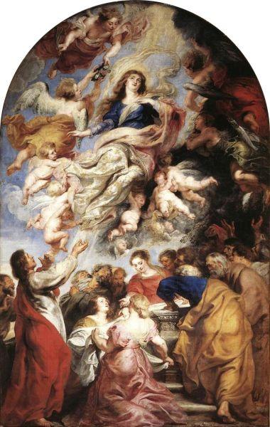 Adormirea Maicii Domnului, lucrare de Rubens (1626) - foto preluat de pe ro.wikipedia.org
