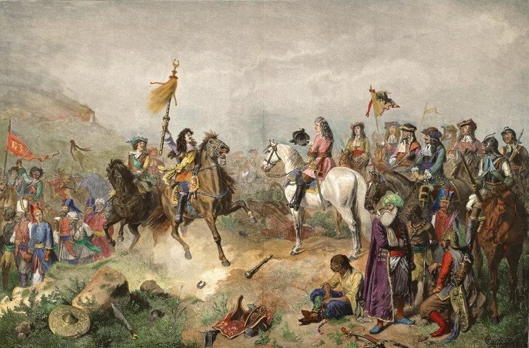 Ludwig Wilhelm şi Carol al V-lea de Lorena în Bătălia de la Mohács. Pictură de Wilhelm Camphausen, secolul XIX - foto: ro.wikipedia.org