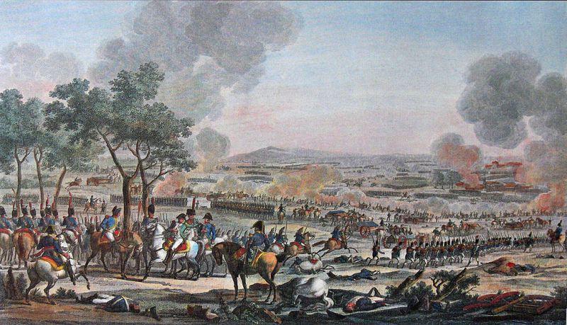Bătălia de la Wagram (5 – 6 iulie 1809) colorată de Carle Vernet și Jacques Swebach - foto preluat de pe ro.wikipedia.org