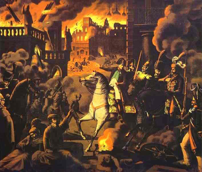 Campania din Rusia (1812) - Francezii în Moscova - foto preluat de pe ro.wikipedia.org