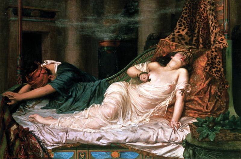 """Moartea Cleopatrei"" de Reginald Arthur - foto preluat de pe ro.wikipedia.org"