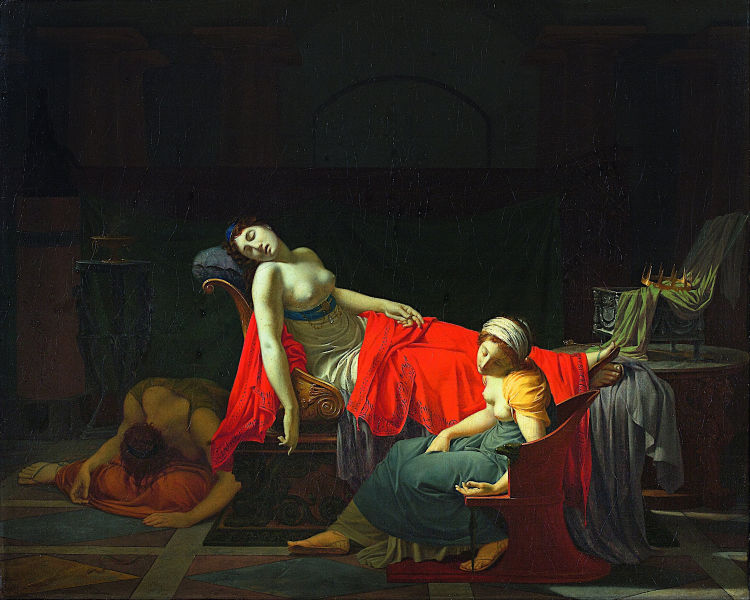 The Death of Cleopatra (1796–1797), by Jean-Baptiste Regnault - foto preluat de pe en.wikipedia.org